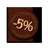 Hostel book discount -5%